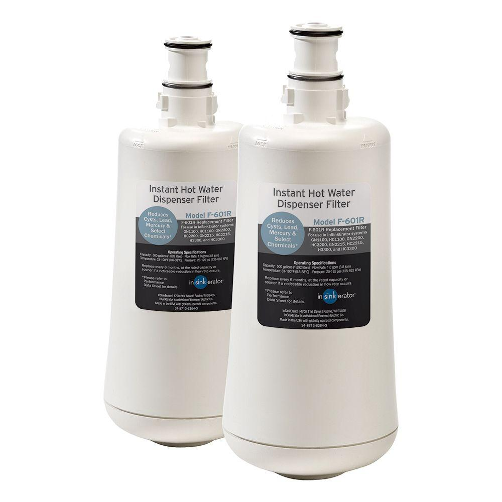 InSinkErator Replacement Filter Cartridges for InSinkErator Hot and Cold Water Dispenser Systems (2-Pack)