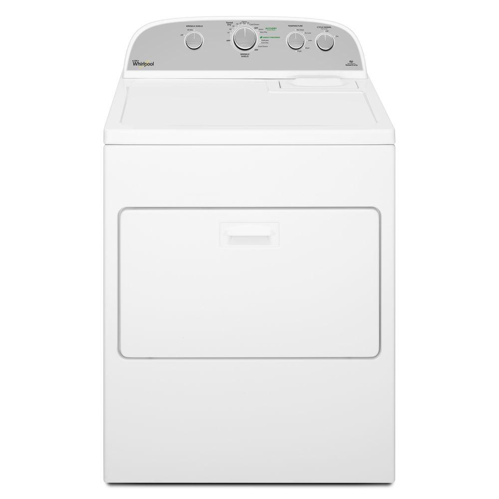 Whirlpool 7.0 cu. ft. 240 Volt White Electric Vented Dryer with Wrinkle Shield Plus