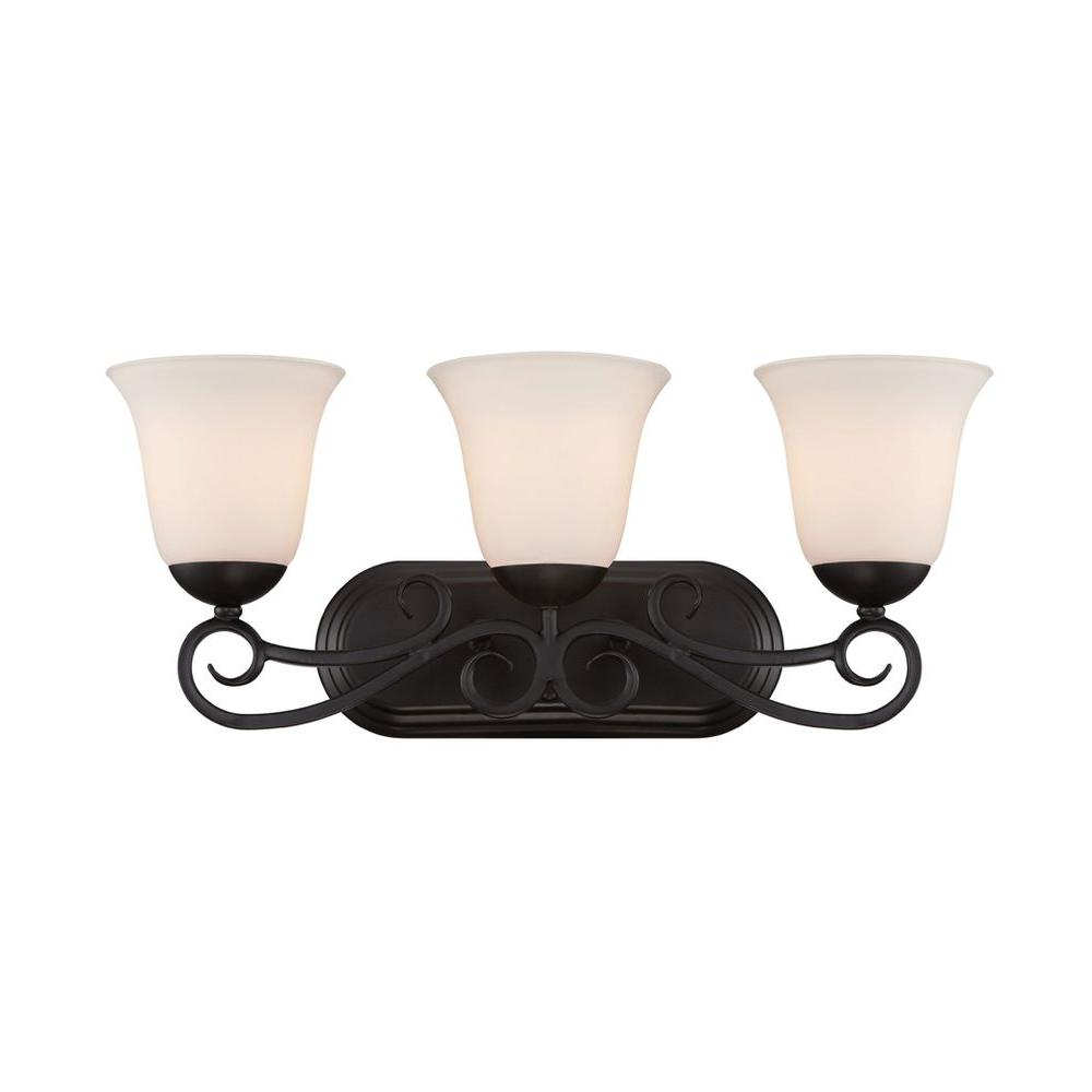 Designers Fountain Darby 3 Light Weathered Iron Bath Bar 87003 Wi The Home Depot