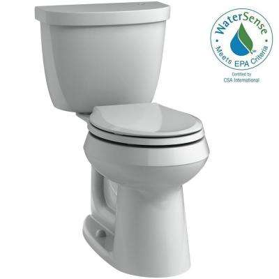 Cimarron Touchless Comfort Height 2-Piece 1.28 GPF Round Toilet with AquaPiston Flushing Technology in Ice Grey