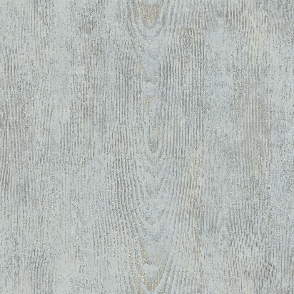 Chesapeake 56.4 sq. ft. Drifter Light Blue Wood Wallpaper 3118-12681