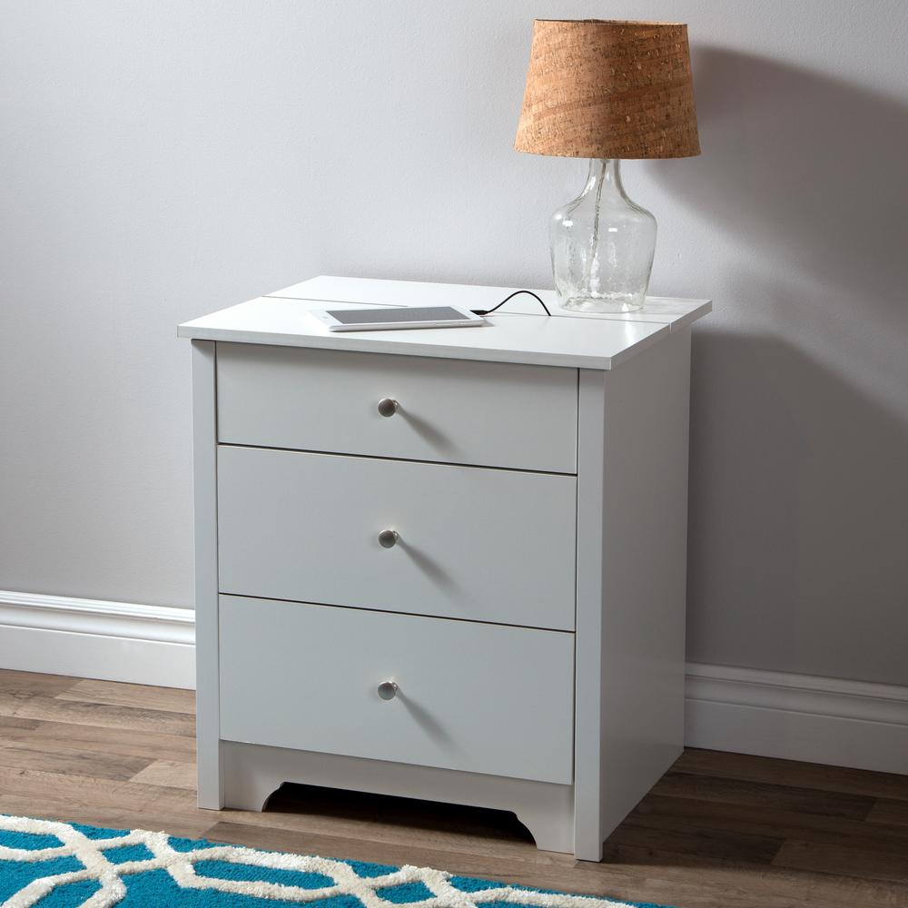 South Shore Vito Pure White Nightstand
