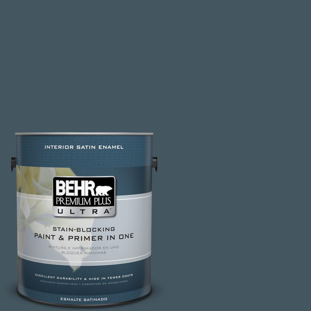 BEHR Premium Plus Ultra 1-gal. #ECC-35-3 Thunder Bay Satin Enamel Interior Paint