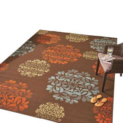 Henley Multi-Colored 8 ft. x 11 ft. Floral Indoor/Outdoor Area Rug