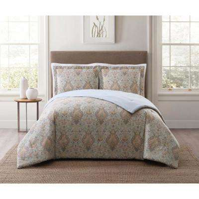 Cambridge Ivory Multi Full and Queen XL Comforter Set
