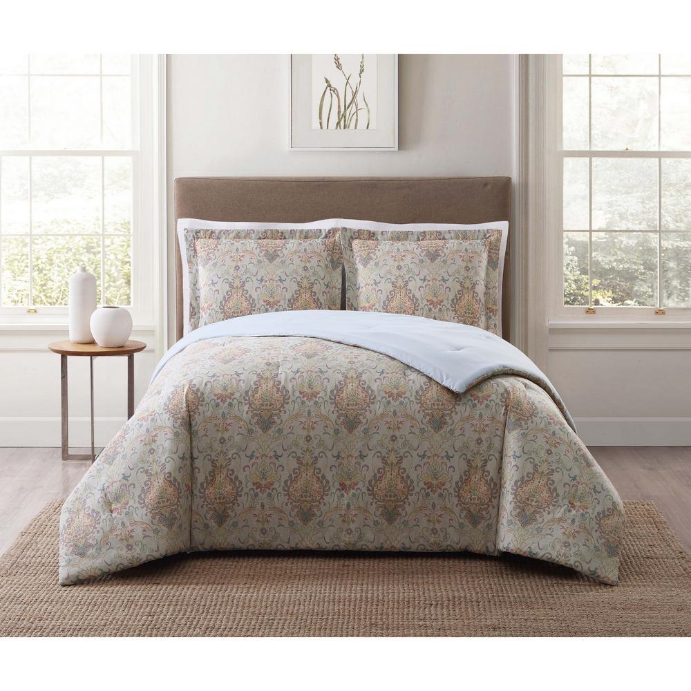 Cambridge Ivory Multi Twin XL Comforter Set
