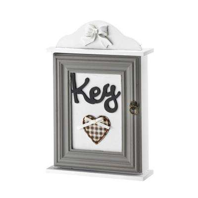 Classic Key Cabinet Box with Embroidered Heart