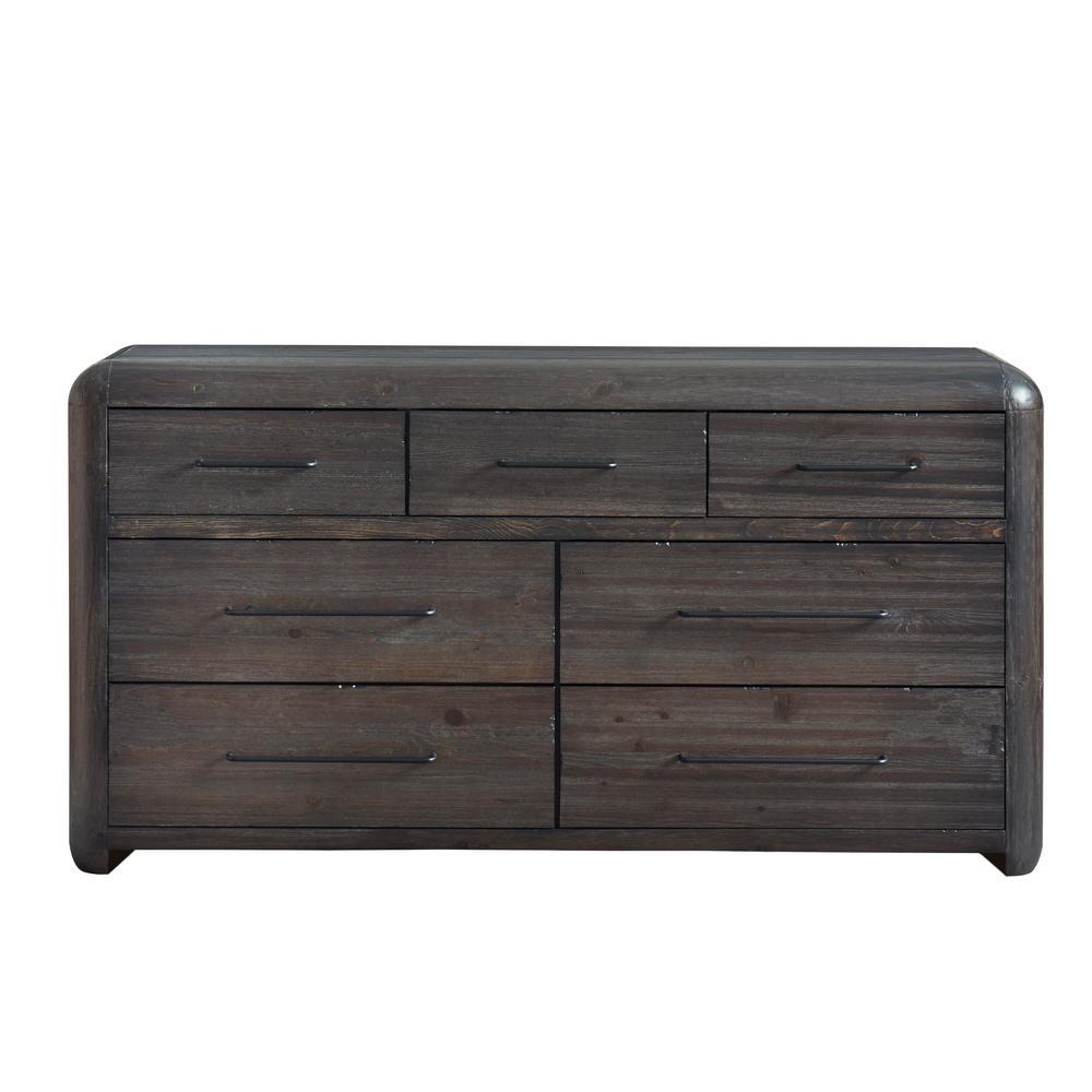 Oakley 7-Drawer Distressed Java Dresser
