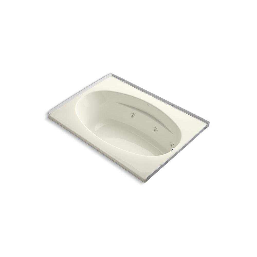 KOHLER Proflex 5 ft. Walk-in Bath Tub in Biscuit