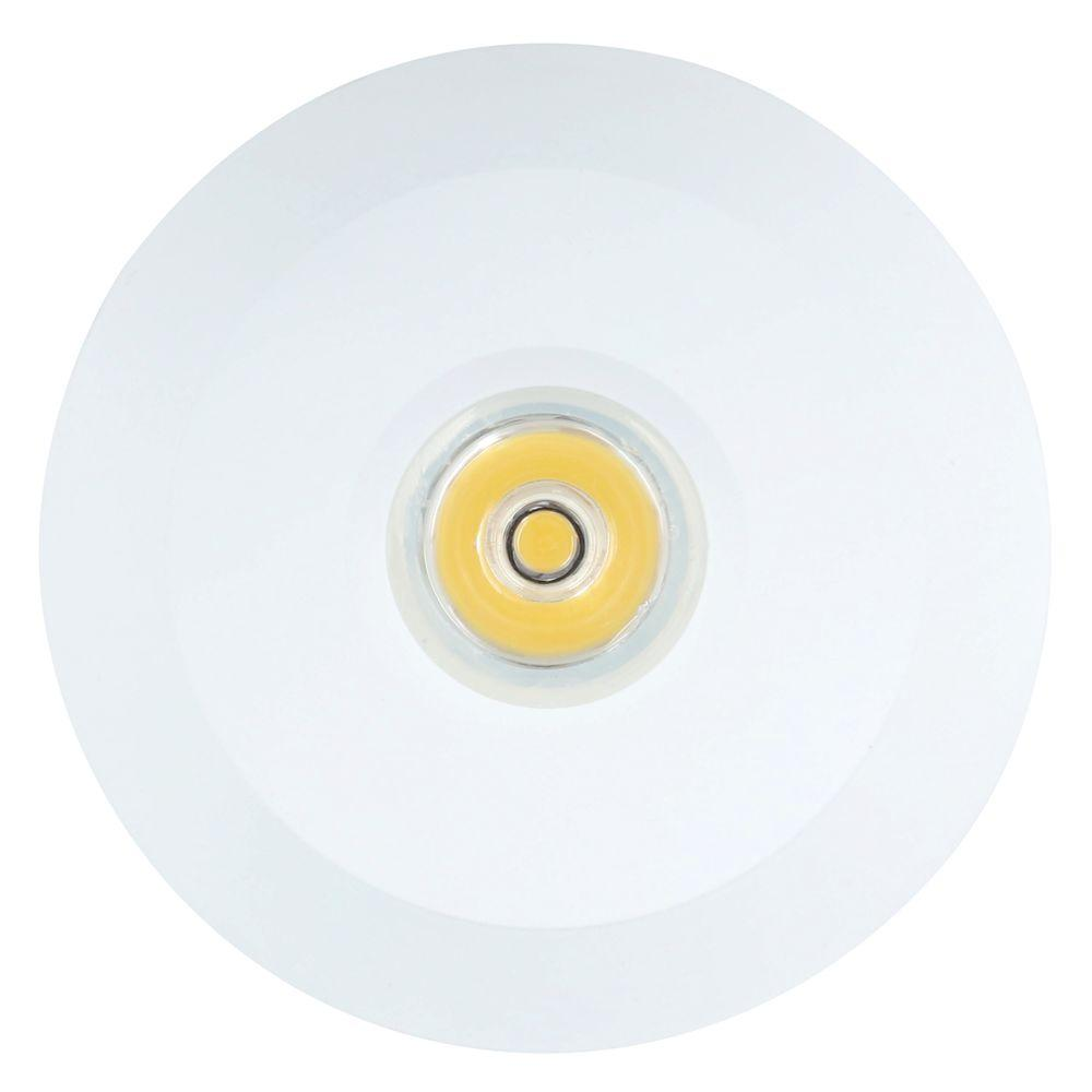 differently 744c5 721f3 Armacost Lighting Mini Warm White Integrated LED Recessed Puck Light with  2.75 in. Round Matte White Metal Trim Ring