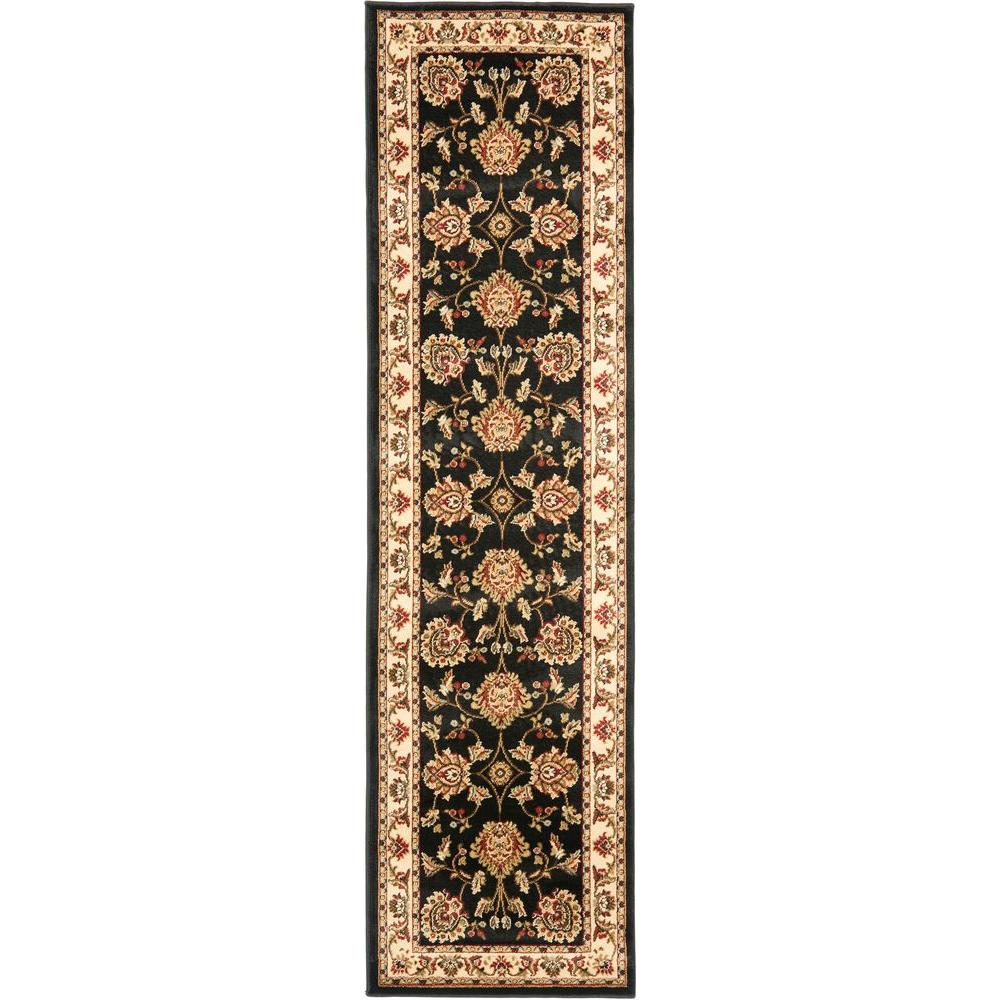 Lyndhurst Black/Ivory 2 ft. 3 in. x 12 ft. Runner