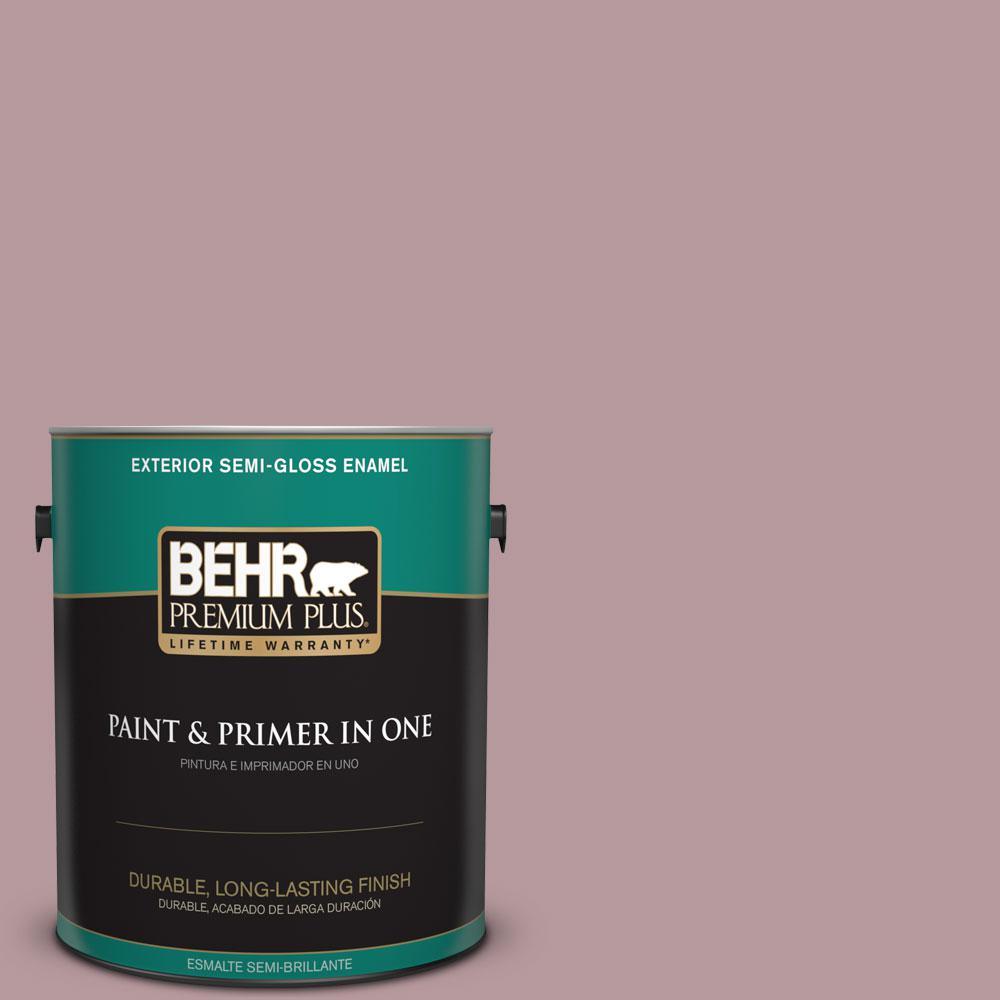 1-gal. #PMD-71 Twilight Blush Semi-Gloss Enamel Exterior Paint