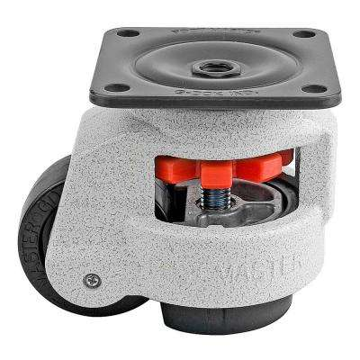 2-1/2 in. Nylon Wheel Top Plate Leveling Caster with Load Rating 1100 lbs.