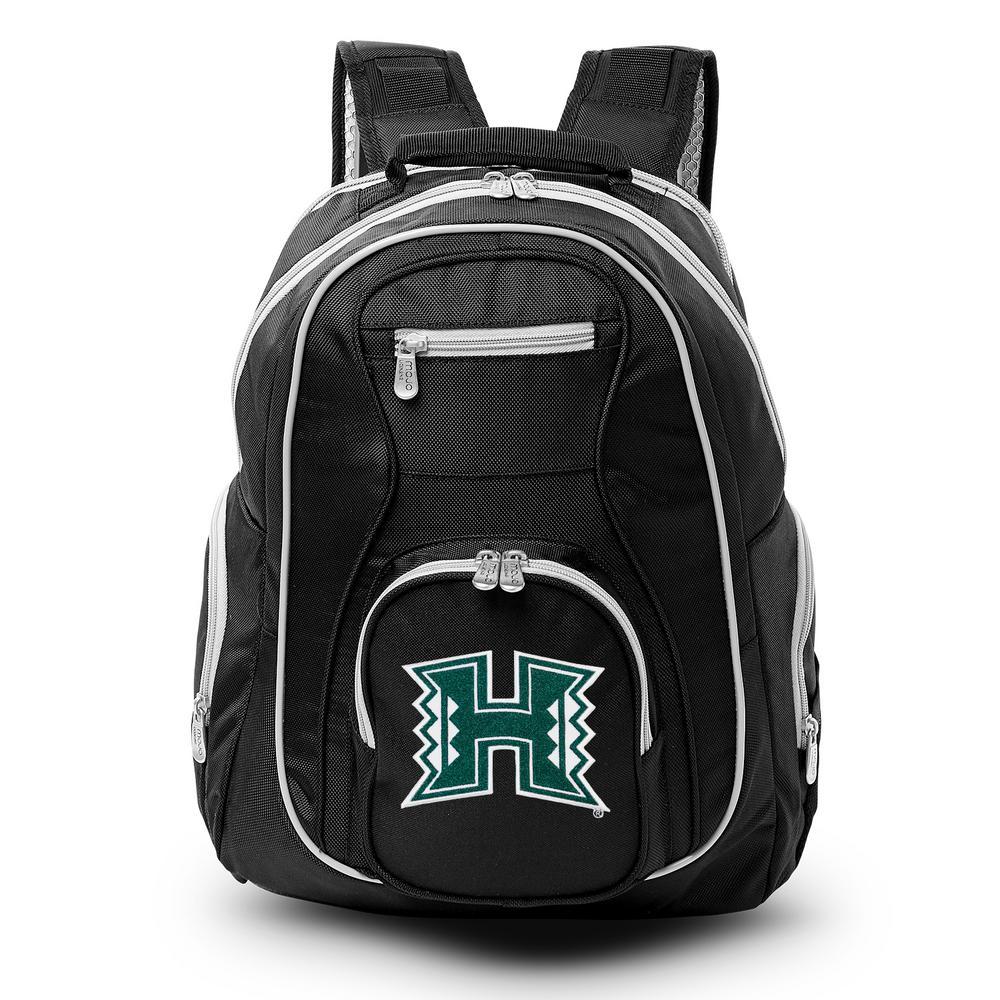 NCAA Hawaii Warriors 19 in. Black Trim Color Laptop Backpack