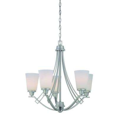 Wright 5-Light Matte Nickel Chandelier