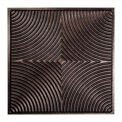 Echo - 2 ft. x 2 ft. Lay-in Ceiling Tile in Smoked Pewter