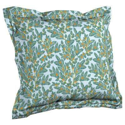 Artisans 21 in. x 23 in. Eugene Leaf Double Flange Outdoor Throw Pillow Back