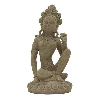 8 in. x 8 in. Buddha Decoration in Gray
