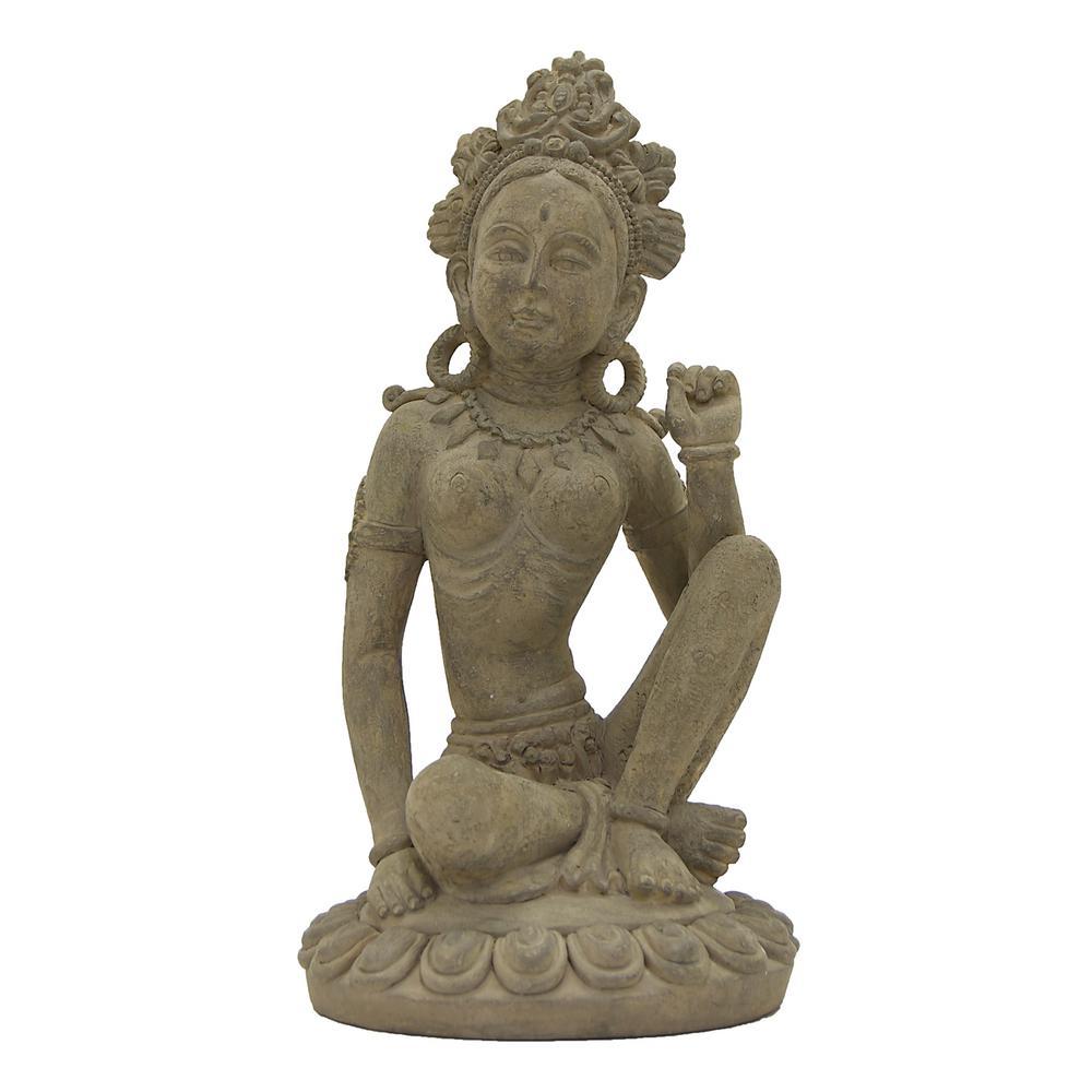 8 in. x 8 in. Buddha Decoration in Gray