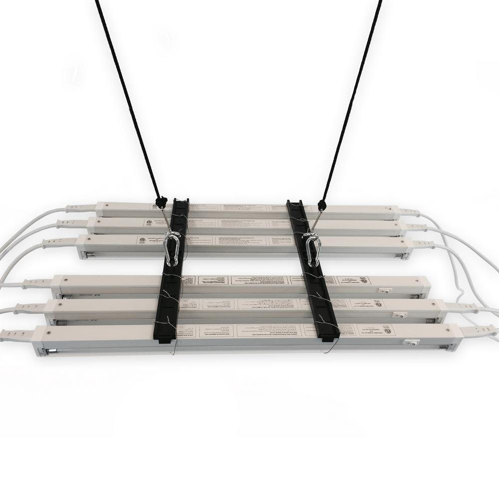 ViaVolt Lamp Bracket Kit with Six 2 ft. T5 Lamps and Safety Wire ...
