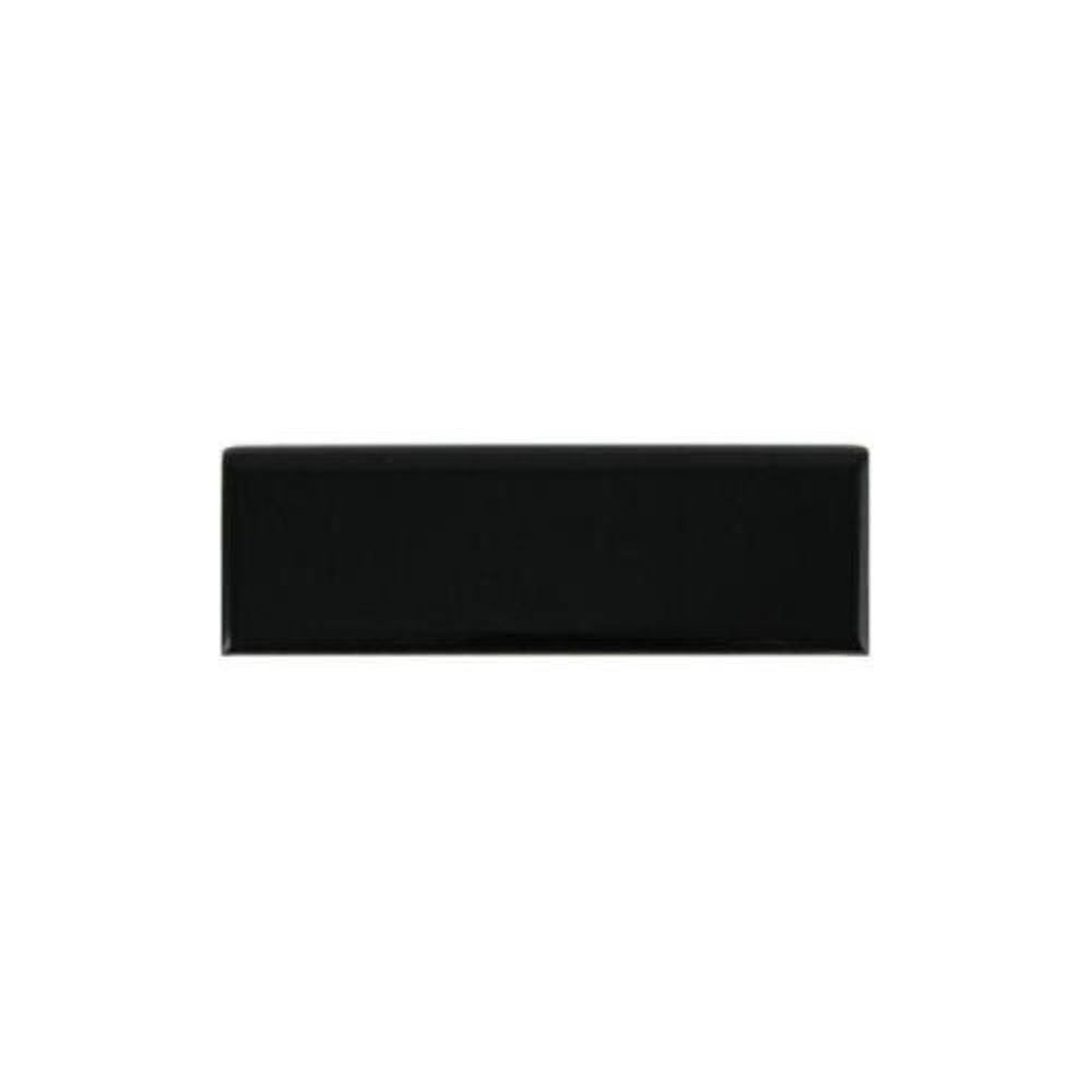 Daltile Semi Gloss Black 2 In X 6 Ceramic Bullnose Wall Tile