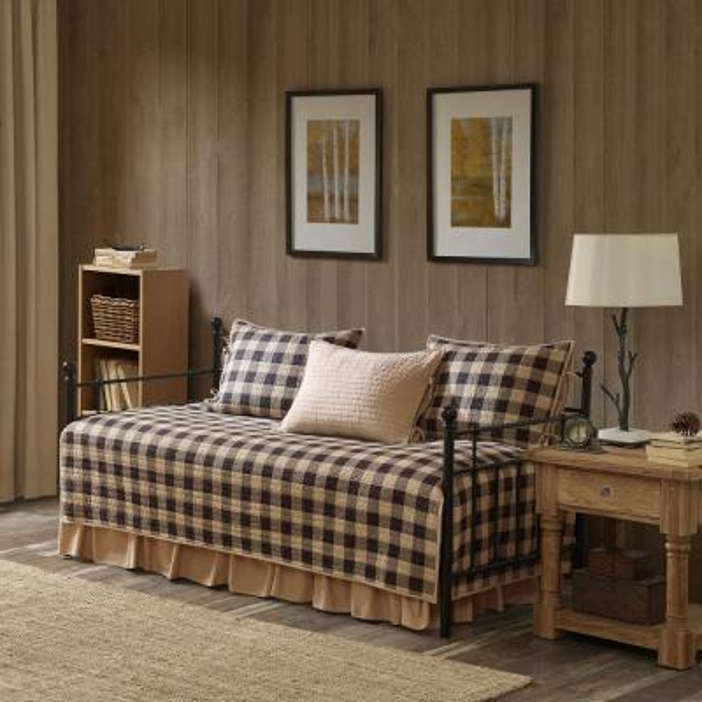 Buffalo 5-Piece Tan Daybed Bedding Set