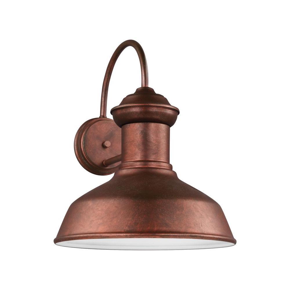 Fredricksburg 1-Light Weathered Copper Wall Lantern