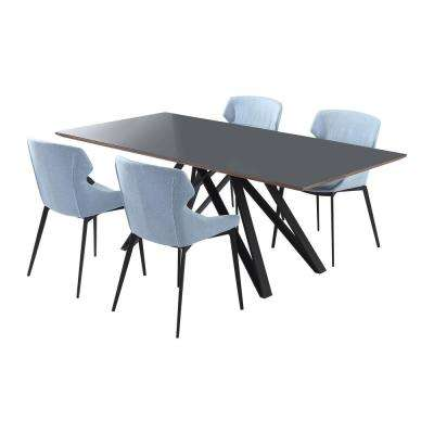 Kenna 5-Piece Grey Dining Set