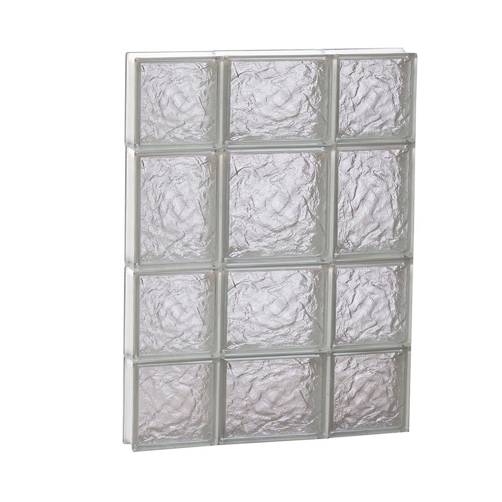 Clearly Secure 19.25 in. x 25 in. x 3.125 in. Frameless Ice Pattern ...