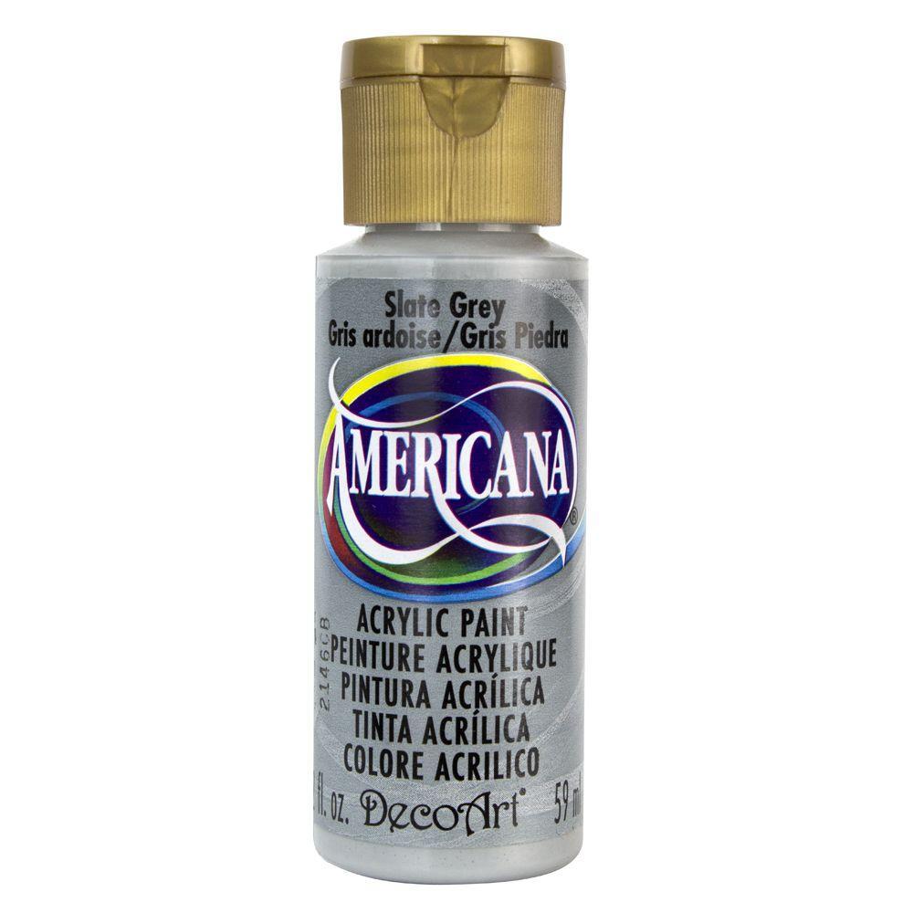 Americana 2 oz. Slate Grey Acrylic Paint