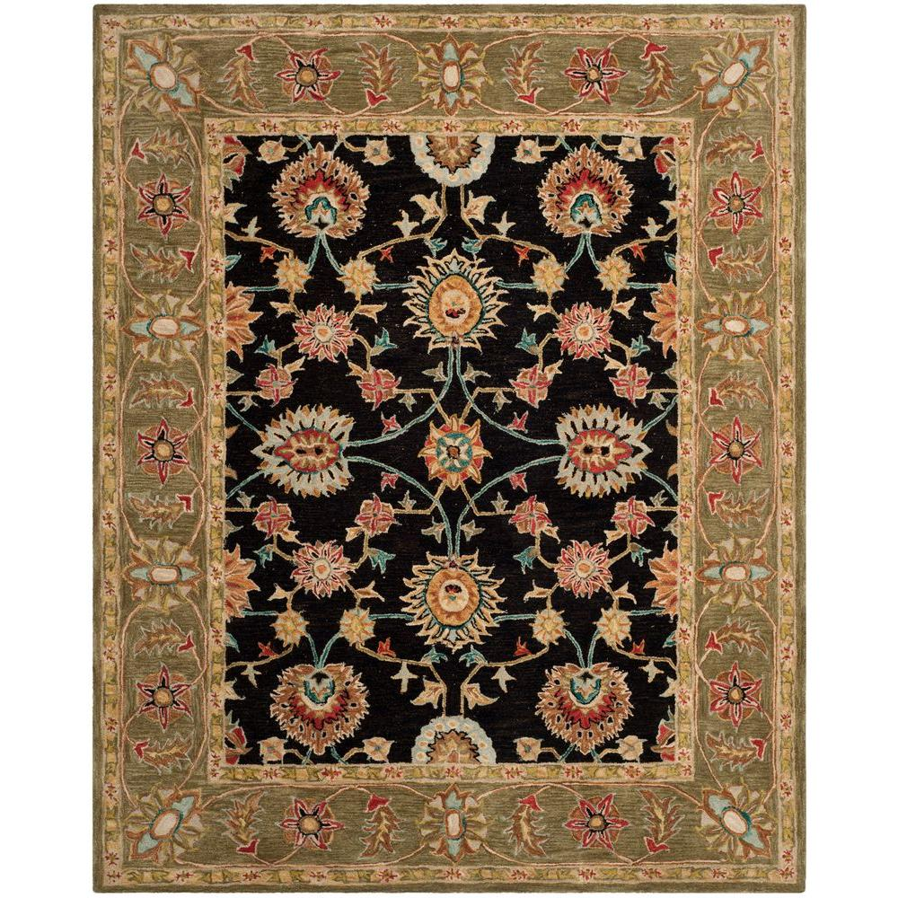 Safavieh Anatolia Black Green 5 Ft X 8 Ft Area Rug An561c 5 The