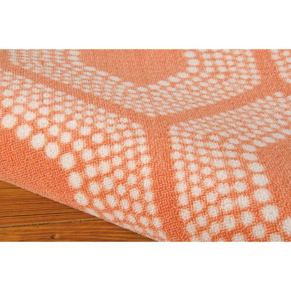 Waverly Bubbly Tangerine 8 Ft X 11 Ft Geometric Modern Indoor Outdoor Area Rug 234209 The Home Depot