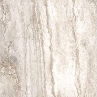 Pietra Bernini Bianco 18 in. x 18 in. Polished Porcelain Floor and Wall Tile (13.5 sq. ft. / case)