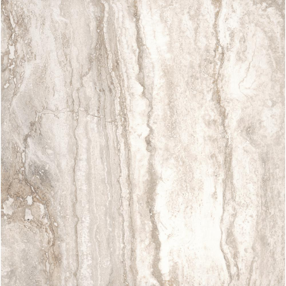 Pietra Bernini Bianco 18 in. x 18 in. Polished Porcelain Floor