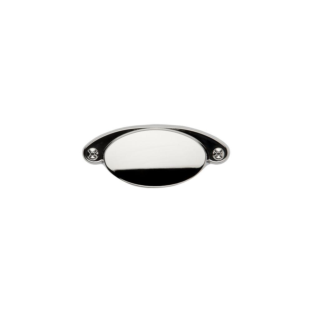 Ovaline 2-1/4 in. Polished Nickel Cup Pull