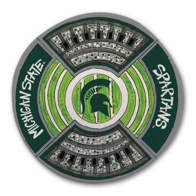 Michigan State Football Stadium Melamine Platter