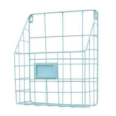 Blue Metal Wall Rack