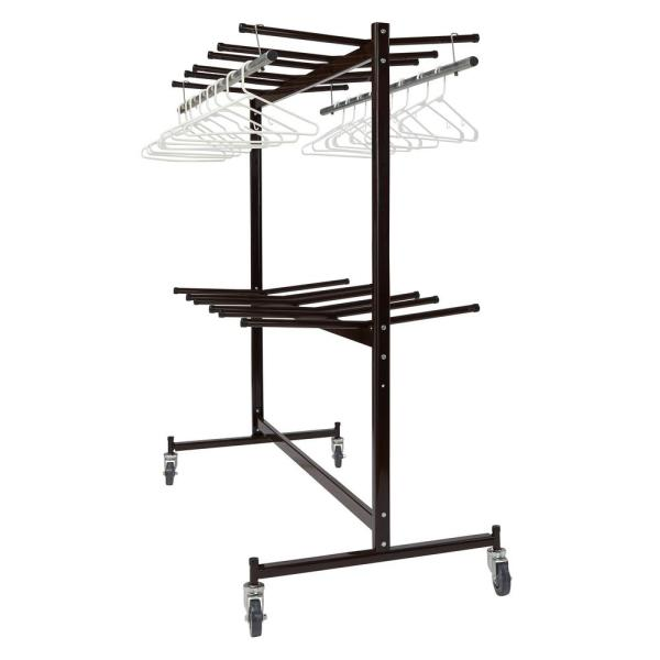 National Public Seating 1320 Lbs Weight Capacity Chair Truck With Checkerette Bars To Hold 60 70 Coats Or Up To 84 Folding Chairs 84 60 The Home Depot