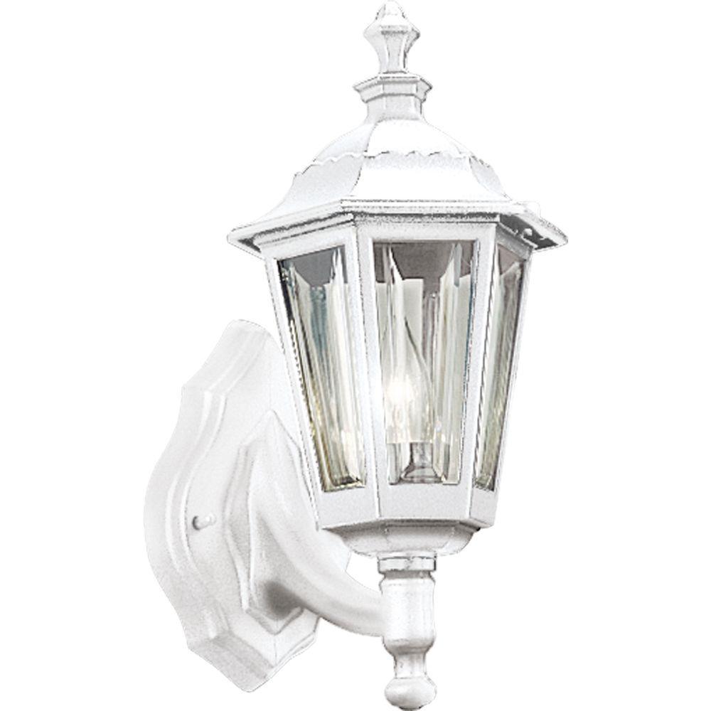 Outdoor White Wall Lantern