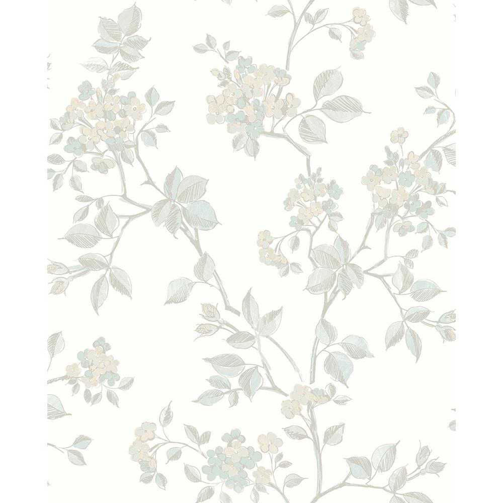 Advantage 8 In X 10 In Parry Light Grey Floral Wallpaper Sample