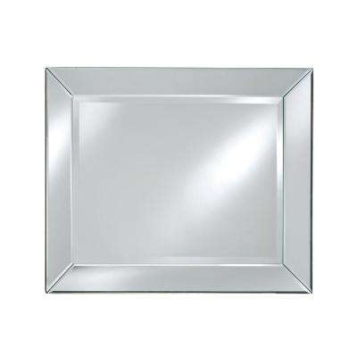 30 in. x 36 in. Radiance Contemporary Rectangular Cut Glass Decorative Wall mirror