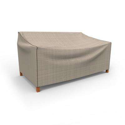 NeverWet Mojave Medium Black Ivory Patio Sofa Cover