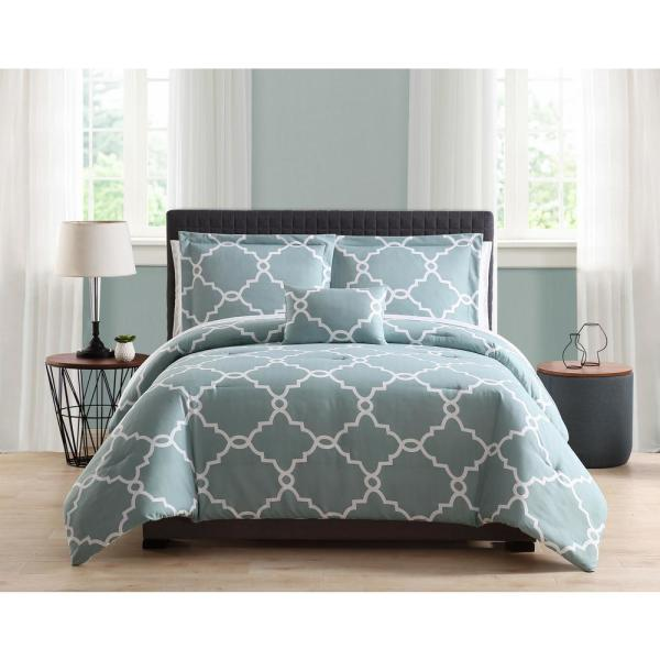 Allyson 8-Piece Blue Full/Queen Comforter Set