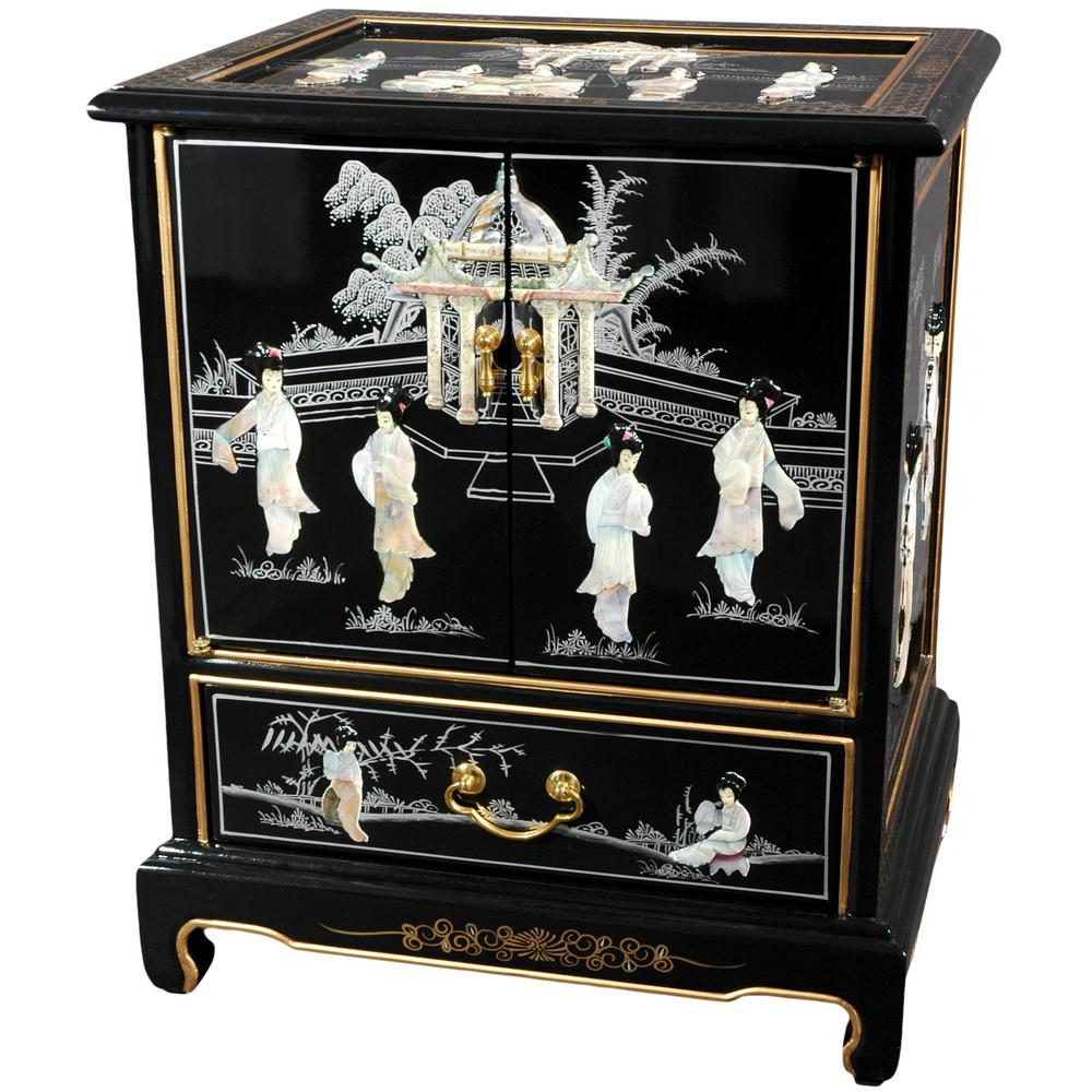 Mother Of Pearl Las Black End Table