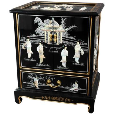 Mother of Pearl Ladies Black End Table