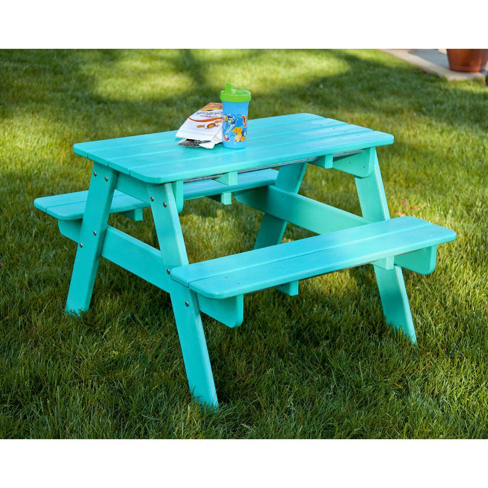 Kids Plastic Patio Picnic Table