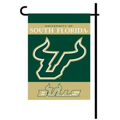 NCAA 13 in. x 18 in. South Florida 2-Sided Garden Flag Set with 4 ft. Metal Flag Stand
