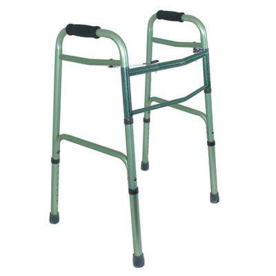 2-Button Release Folding Walker in Green