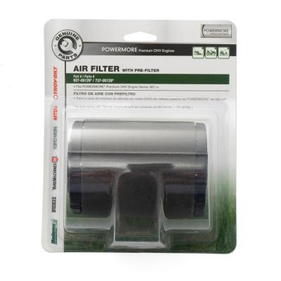 Air Filter for Troy-Bilt 382cc and 439cc Premium OHV Engines with Pre-Filter Included OE# 737-05129