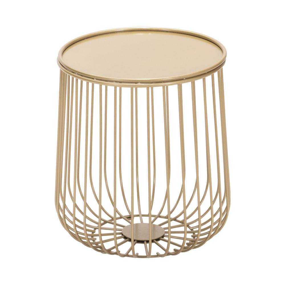 ZUO Gilbert Gold Metal Outdoor Side Table